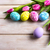 яйца · гнезда · желтые · цветы · Пасха · Top - Сток-фото © tasipas