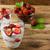 vers · aardbei · slagroom · dessert · roze · macro - stockfoto © tasipas