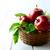свежие · красный · яблоки · плетеный · корзины · деревянный · стол - Сток-фото © tasipas