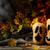 halloween smiling butternut squash on dark rustic background stock photo © tasipas