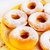 sweet donuts served on yellow plate stock photo © tasipas