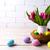 Пасху · таблице · украшенный · яйца · гнезда · Христос · воскрес - Сток-фото © TasiPas