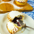 sweet small pie on the white plate stock photo © tasipas