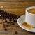 kávéscsészék · felszolgált · vászon · szalvéta · kávéscsésze · erős - stock fotó © tasipas