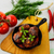 homemade meatballs served with basil in cast iron skillet stock photo © tasipas