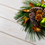 christmas holidays golden cones decorated wreath copy space stock photo © tasipas