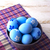 blu · easter · eggs · viola · ciotola · tovagliolo - foto d'archivio © TasiPas