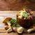 edible mushrooms in the wooden bowl stock photo © tasipas