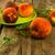 fresco · pêssegos · mesa · de · madeira · comida · fruto - foto stock © tasipas