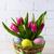 Пасху · таблице · стороны · окрашенный · яйца · корзины - Сток-фото © TasiPas