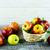 fresche · rosso · mele · basket · tavolo · in · legno - foto d'archivio © tasipas