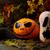 halloween stingy jack pumpkins on dark rustic background stock photo © tasipas