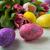 csillámlás · húsvéti · tojások · csoport · színes · izolált · fehér - stock fotó © tasipas