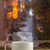 Cup of strong coffee on the rainy window background stock photo © TasiPas