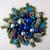 christmas wreath with blue color shades ornaments stock photo © tasipas