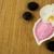rosa · sal · do · mar · tigela · tabela · madeira · luz - foto stock © tasipas