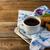 ontbijt · thee · melk · dienblad · bloemen · voedsel - stockfoto © tasipas