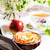 apple rose shaped pie and cup of tea on the vintage serving tray stock photo © tasipas