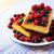 gözleme · plaka · tablo · meyve · süt - stok fotoğraf © tasipas