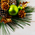 christmas background with green ornaments and golden pine cones stock photo © tasipas