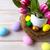 Пасху · таблице · украшенный · яйца · гнезда · розовый - Сток-фото © TasiPas