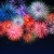 amazing red golden blue fireworks over night sky stock photo © tasipas