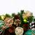 karácsony · díszek · hó · fenyőfa · ág · vízszintes - stock fotó © tasipas