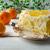 slice of delicious white jelly fruit tart stock photo © tasipas
