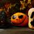 halloween decorated pumpkins on dark rustic background stock photo © tasipas