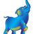 Blauw · olifant · gelukkig · natuur · ontwerp - stockfoto © tatiana3337
