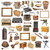collection of isolated vintage objects stock photo © taviphoto