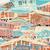カラフル · 住宅 · 家 · 建物 · 背景 · 木 - ストックフォト © tawng