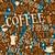 café · sem · costura · vetor · padrão · grãos · de · café · comida - foto stock © tawng