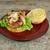 hamburger · zsemle · szendvics · saláta · hagyma · mustár - stock fotó © tdoes