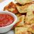 frito · ravioli · molho · branco · prato · tigela - foto stock © TeamC