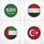 флагами · ткань · жетоны · набор · подробный - Сток-фото © tele52