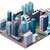 vector isometric city center map stock photo © tele52
