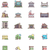 onroerend · gebouw · iconen · vector · business - stockfoto © tele52