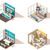 vector isometric low poly laundry icon set stock photo © tele52