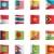 vektor · zászlók · Ázsia · szett · részletes · textil - stock fotó © tele52