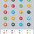 aplicação · linha · ícones · longo · sombra · conjunto - foto stock © tele52
