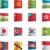 na · północ · jądrowej · niebezpieczeństwo · banderą · tle · ramki - zdjęcia stock © tele52