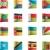 vector · banderas · oceanía · 12 · establecer · detallado - foto stock © tele52