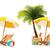 pálmafa · tenger · napernyő · szék · fa · absztrakt - stock fotó © tele52