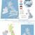 united kingdom maps with markers stock photo © tele52