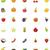 gyümölcsök · ikon · gyűjtemény · szett · zöldségek · étel · alma - stock fotó © tele52