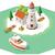 vector isometric lighthouse stock photo © tele52