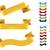 vector ribbons set stock photo © tele52