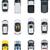 gyűjtemény · vészhelyzet · autók · vektor · kép · ikonok - stock fotó © tele52