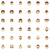 vector faces icon set stock photo © tele52